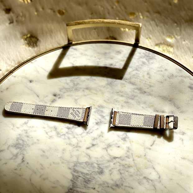 Repurposed LV Watch Bands in White