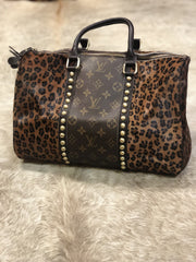 Dark Leopard Louis Vuitton Speedy - Fruit of the Vine