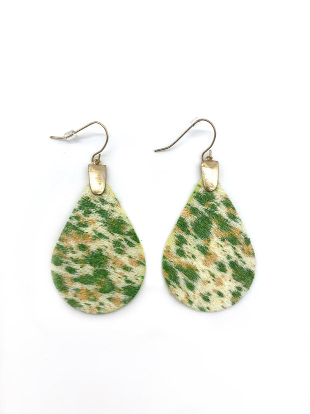 Olivia Genuine Leather Teardrop Earrings - Fruit of the Vine