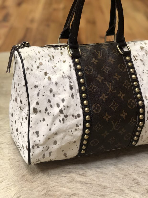 White and Metallic Acid Gold Louis Vuitton Speedy - Fruit of the Vine
