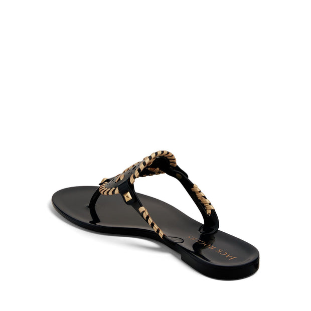 Jack Rogers Georgica Jelly Sandal in Midnight & Gold - Fruit of the Vine