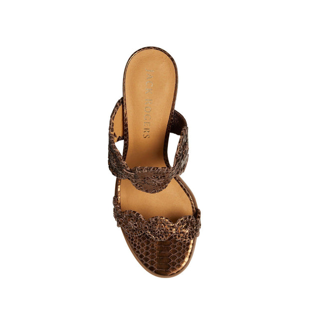 Lauren Mid Heel Snake Embossed | Jack Rogers | Fruit of the Vine Boutique