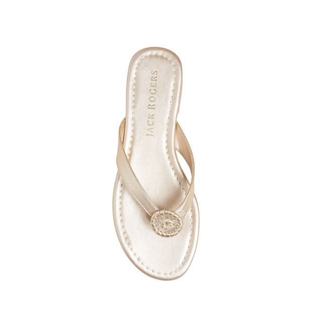 Jack Rogers Rowan Flip Flop in Platinum - Fruit of the Vine