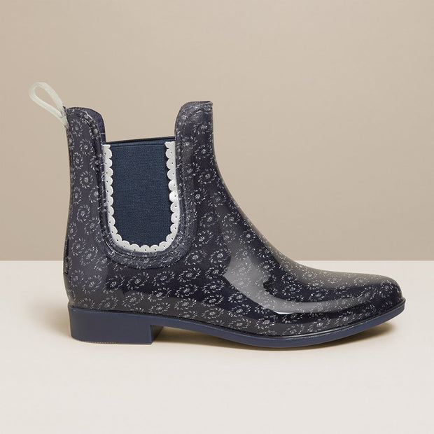 Jack Rogers Sallie Sparkle Rain Boots in Midnight - Fruit of the Vine