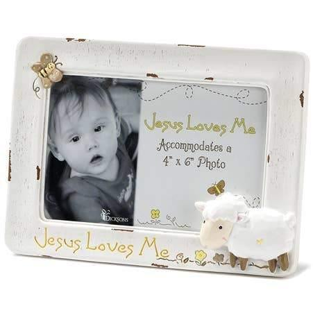 Jesus Loves Me Resin Photo Frame