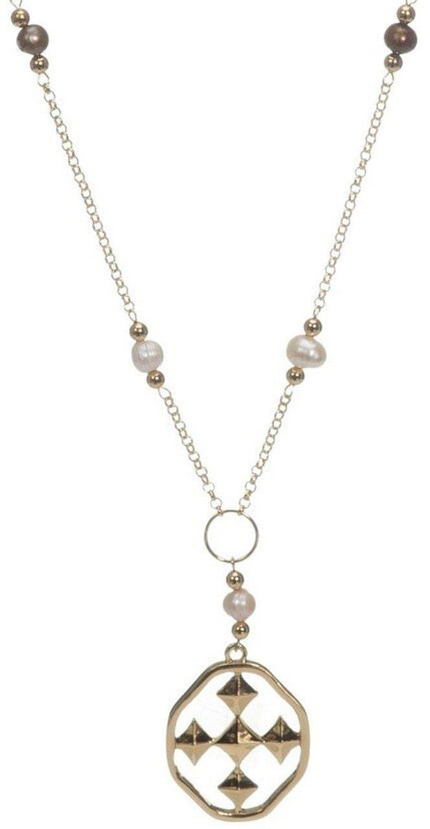 Pearl Lariat Necklace from Gracewear Collection