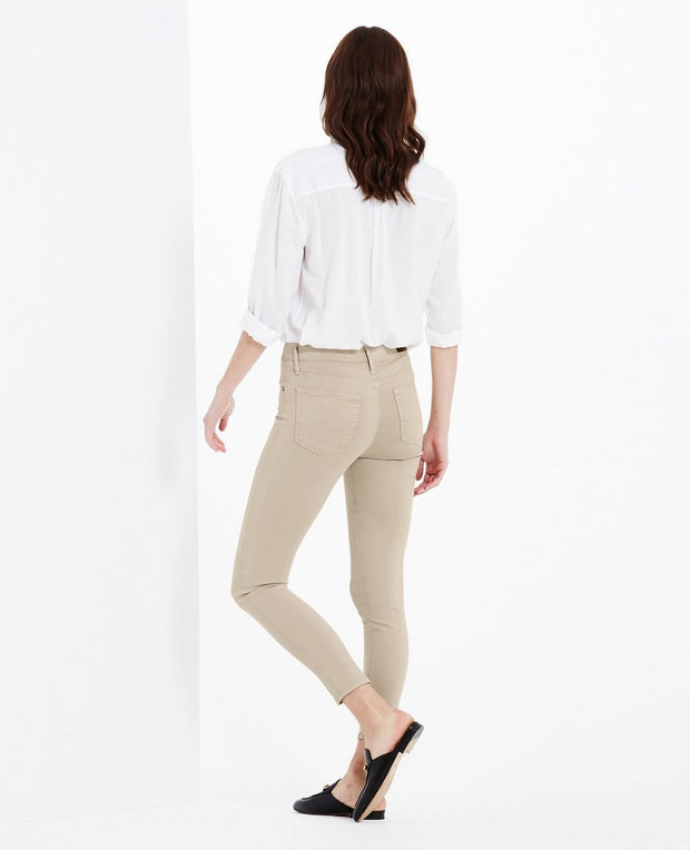 AG Jeans - The Farrah High-Rise Skinny Crop in Tan - Fruit of the Vine