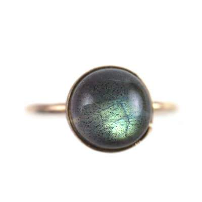 Large Labradorite Ring in Goldfill - Fruit of the Vine