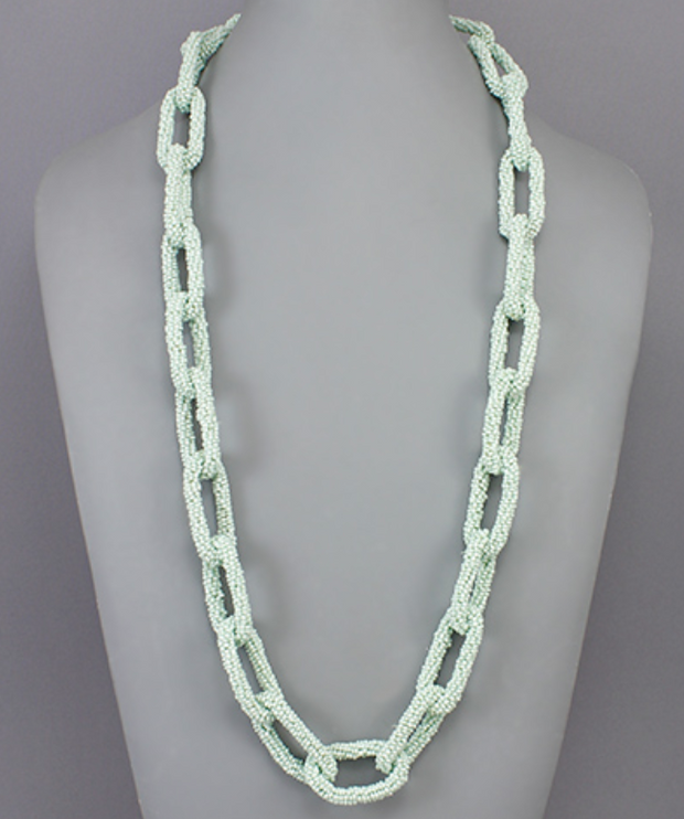 Long Bead Chain Necklaces