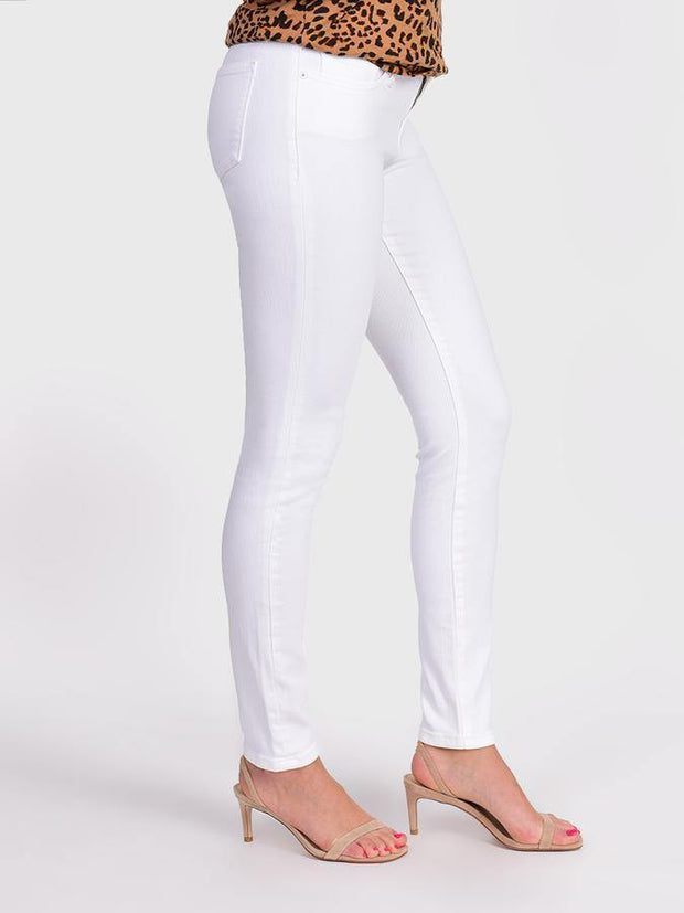 White Louise Mid Rise Skinny Jean | Fruit of the Vine Boutique