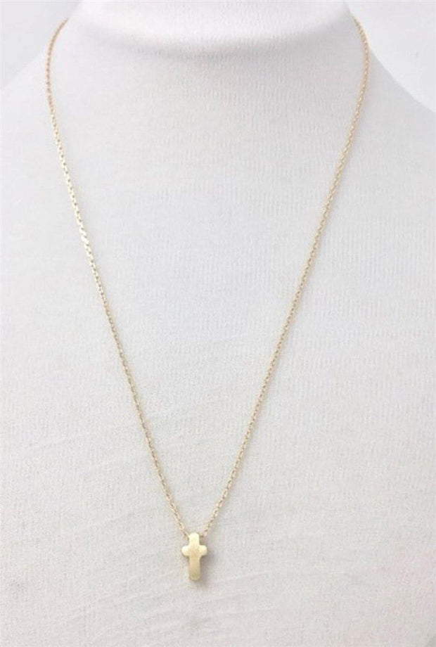 Dainty Gold Cross Necklace | Fruit of the Vine Boutique