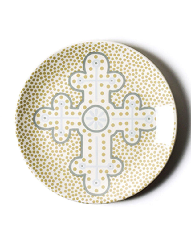 Cobble Neutral Cross Dessert Plate