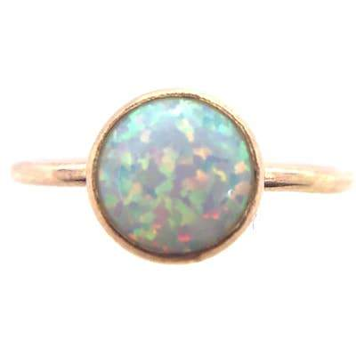 Large Opal Ring in Goldfill - Fruit of the Vine
