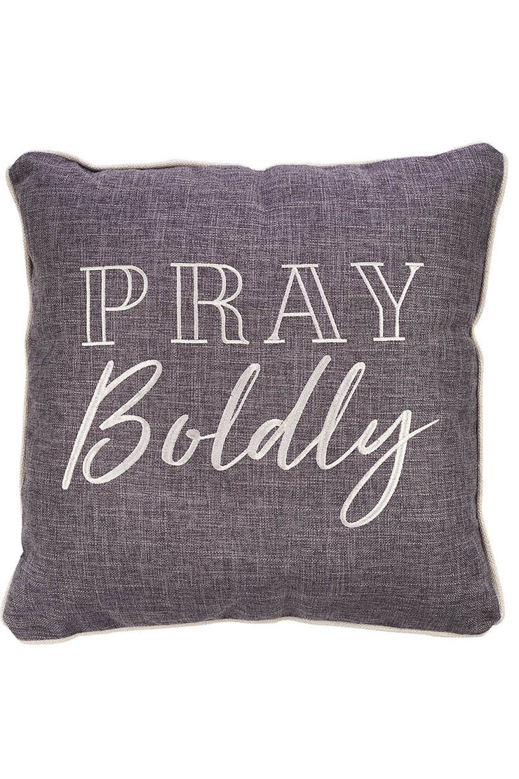 Pray Boldly Square Throw Pillow