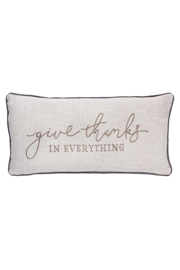 Give Thanks In Everything Oblong Throw Pillow