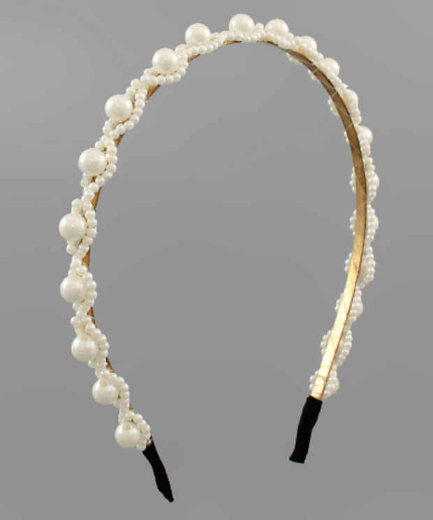 Pearl Embellished Headband | Fruit of the Vine Boutique