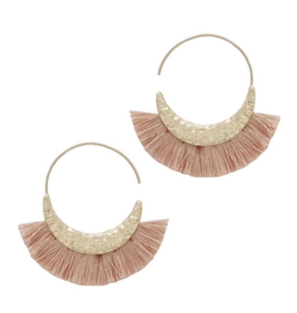 Fabric Tassel Earrings