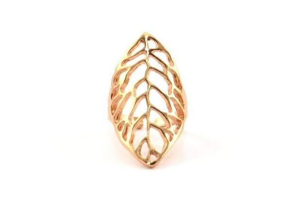 Rose Gold Plated Vein Ring