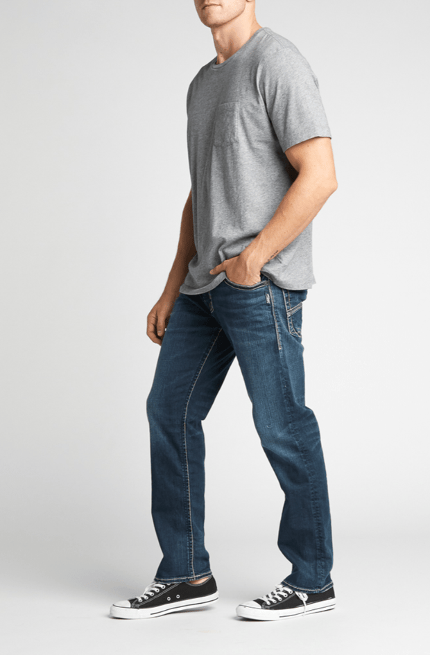 Eddie Relaxed Fit Tapered Leg Jeans - Fruit of the Vine