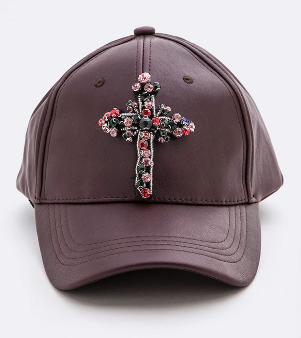 Rhinestone Cross Hats