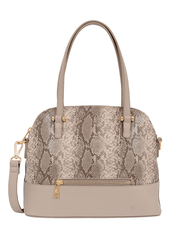 Jacki Snakeskin Satchel - Fruit of the Vine