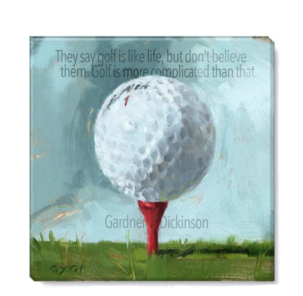 Inspirational Golf Ball Giclee