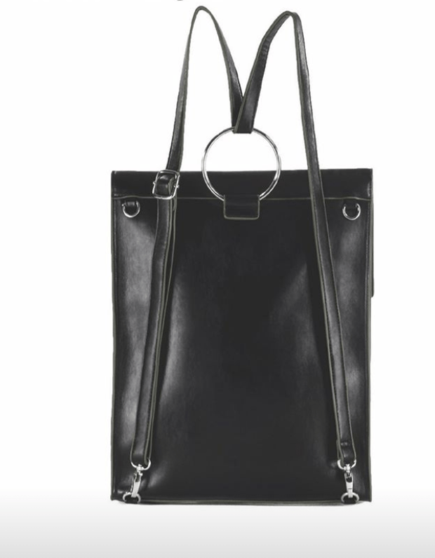 Quincy Convertible Backpack Purse in Black - Fruit of the Vine