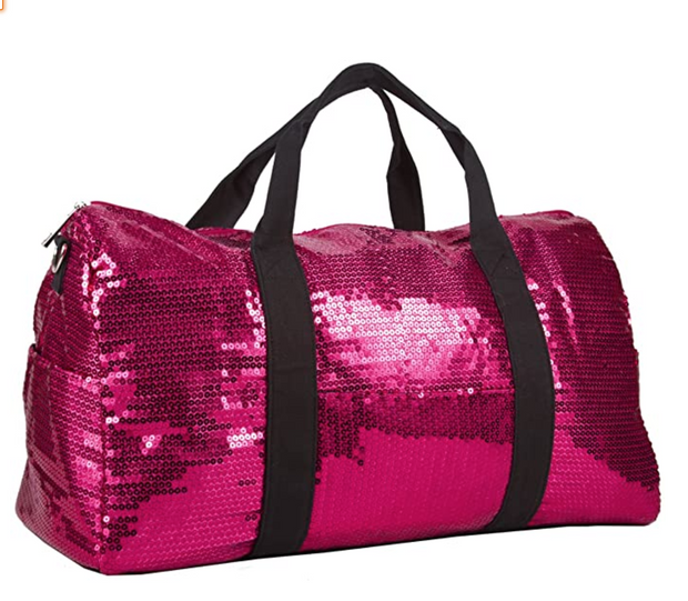 Hot Pink Sequined Duffle Bag | Fruit of the Vine Boutique