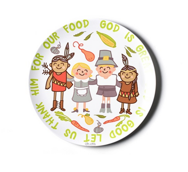 Let Us Thank Him For Our Food Melamine Dinner Plate | Fruit of the Vine Boutique
