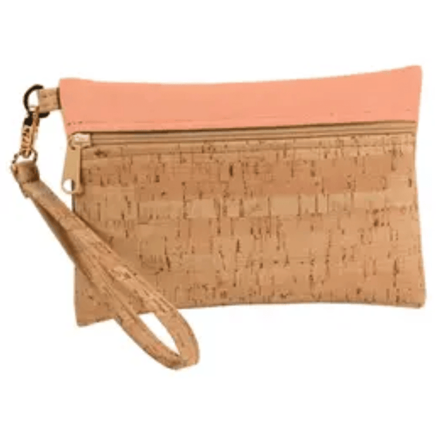 Natalie Therese Be Ready Small Wristlet | Rustic Cork + Faux Leather - Fruit of the Vine