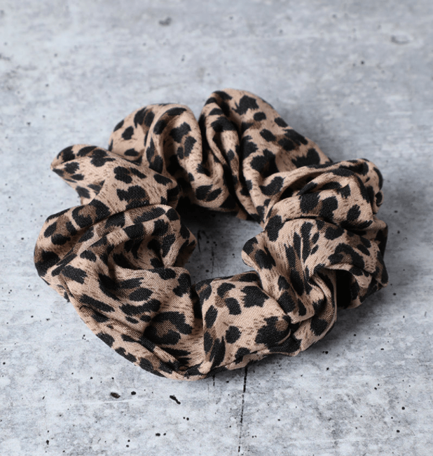 Oversized Leopard Print Scrunchie - Fruit of the Vine