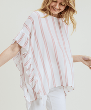 Make Me Blush Striped Top - Fruit of the Vine