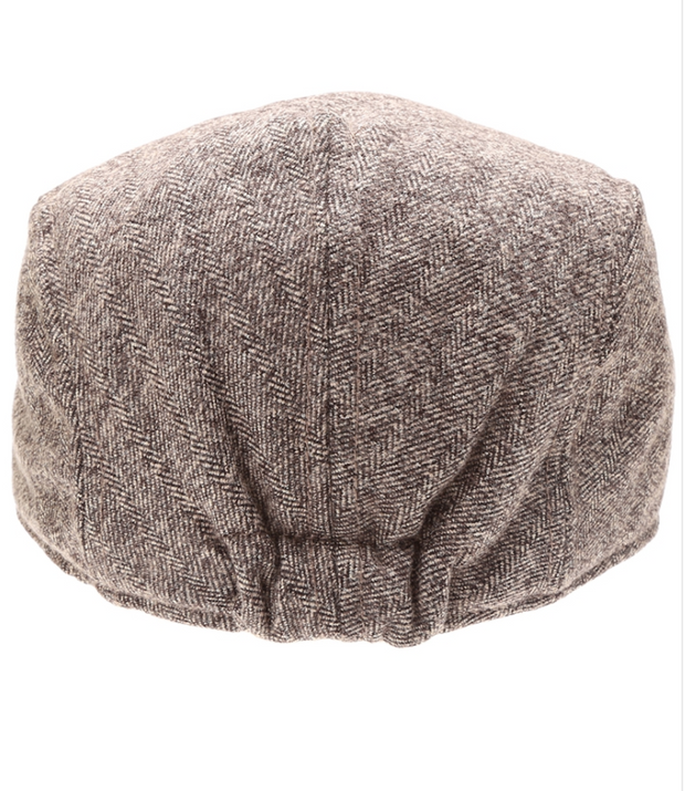 Twill Herringbone Wool Blend Newsboy Hat | Fruit of the Vine Boutique