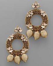 Gold Beaded Earrings | Fruit of the Vine Boutique
