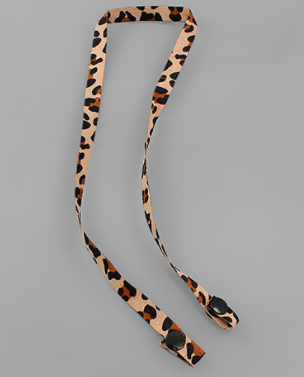 Leopard Print Fabric Mask Holder | Fruit of the Vine Boutique