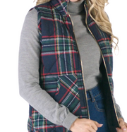 Brodie Quilted Vest in Navy | Mud Pie | Fruit of the Vine Boutique
