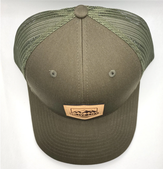 Leather Badge Life Trucker Hat | Live Life Clothing Co