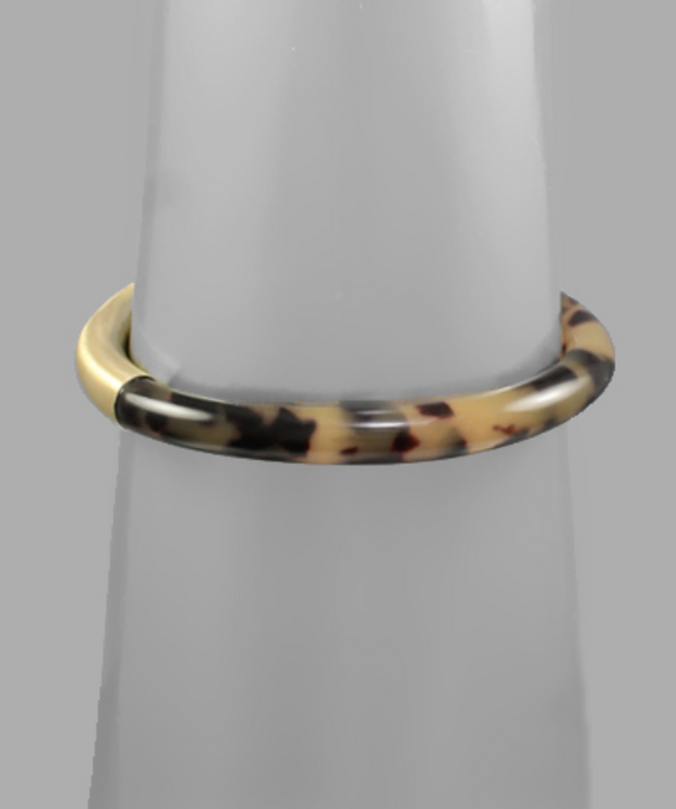 Tortoise and Gold Bangle Bracelets