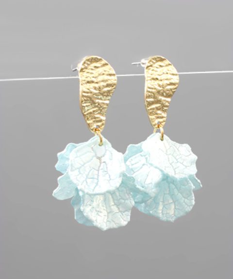 Acrylic Petal Dangle Earrings