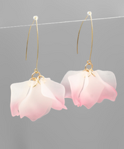 Frosted Petal Cluster Earrings