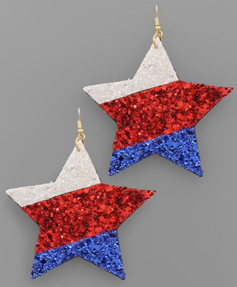 Tri-Tone Glitter Earrings