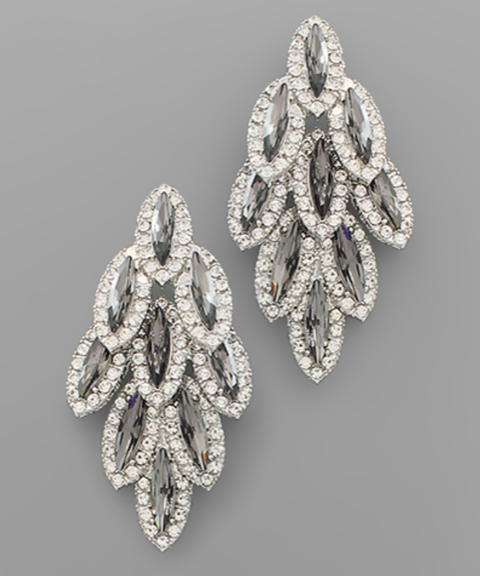 Crystal Marquise Chandelier Earrings