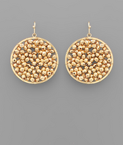 Circle Woven Beaded Earrings