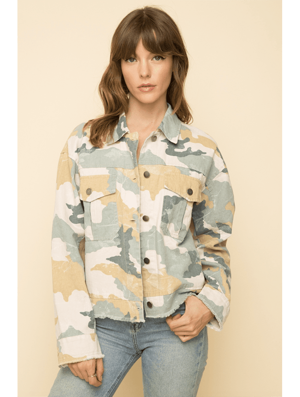 Mystree Pastel Camo Jacket - Fruit of the Vine