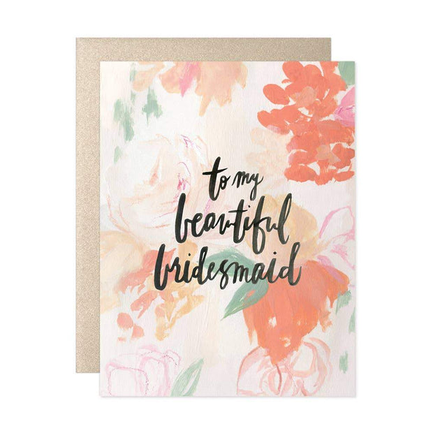 To My Beautiful Bridesmaid Card - Fruit of the Vine
