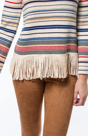 Fringed Stripe Sweater | Tyler Böe