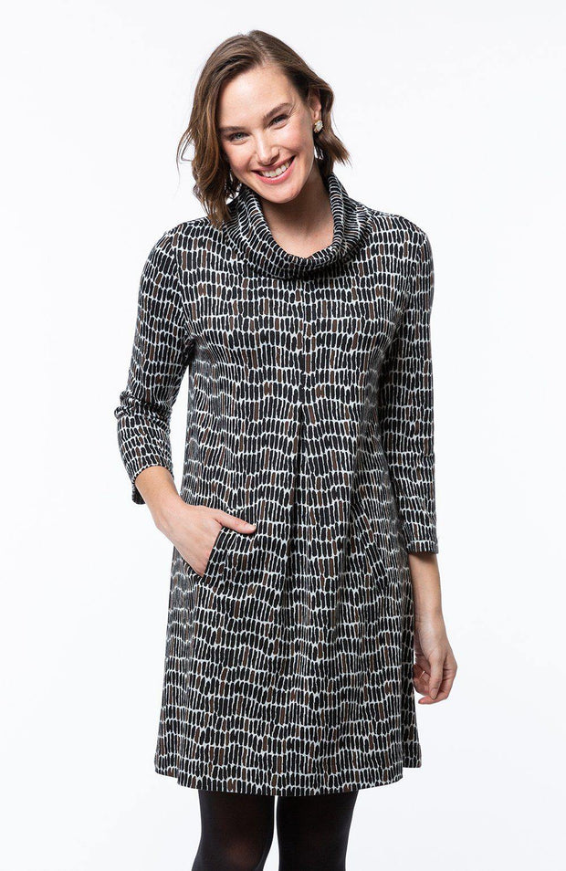 Kim Cowl Neck Dress | Tyler Böe