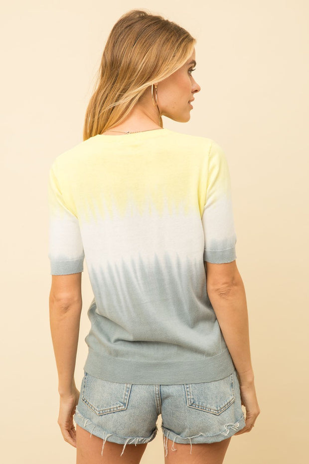 Mystree Tie Dye Short Sleeve Pullover - Fruit of the Vine