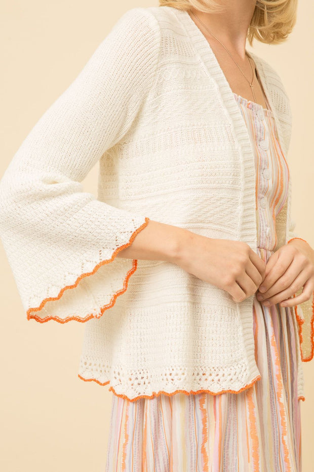 Summer Bell Sleeve Cardigan - Fruit of the Vine