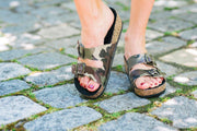 Double Strap Sandal in Camo | CoFi Leathers | Fruit of the Vine Boutique